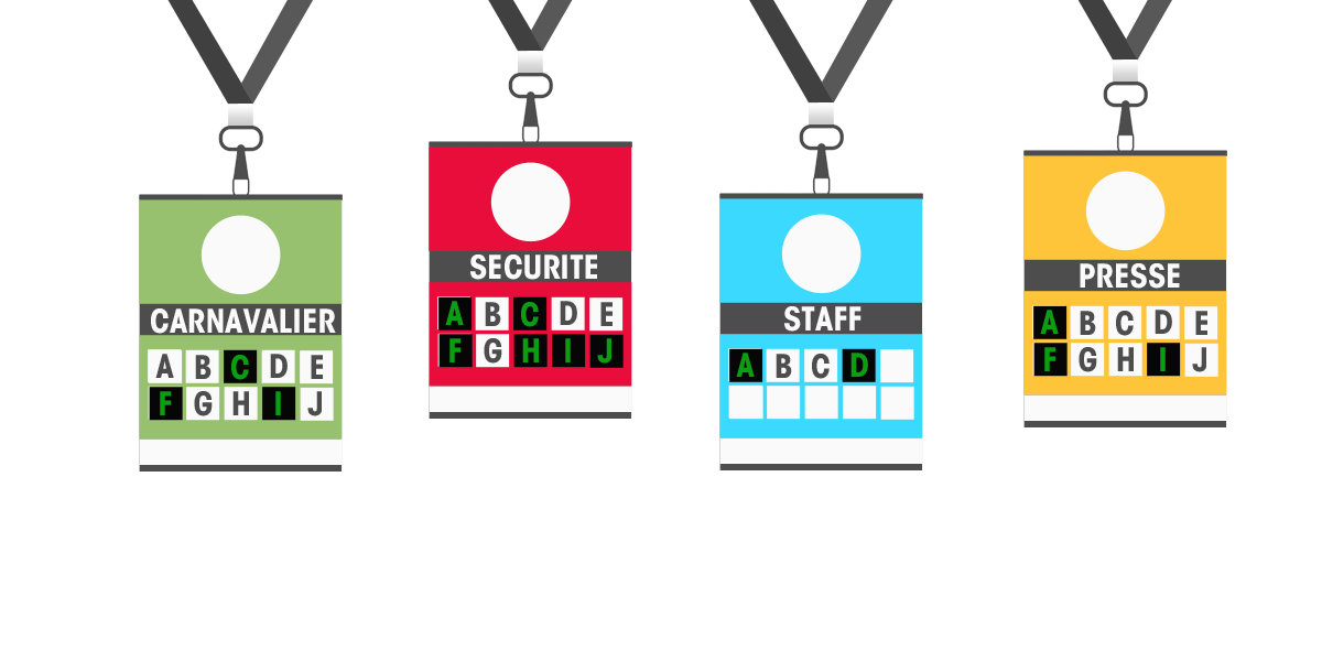 Accreditations badges